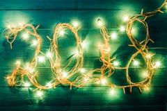 Foto de festão ardente no formulário do número 2018 Imagem de Stock Royalty Free