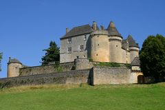 Foto de french Chateau de Fenelon Fotografía de archivo