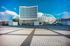 Foto de HDR de NSC Olympiyskiy, situaded em Kyiv imagem de stock royalty free