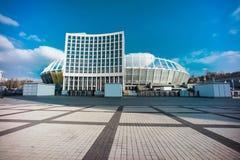 Foto de HDR de NSC Olympiyskiy, situaded en Kiev imagen de archivo