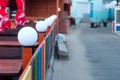 Foto de lâmpadas brancas redondas Fotos de Stock Royalty Free