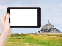 Foto de la abadía de santo-Miguel del mont, Francia Imagen de archivo libre de regalías