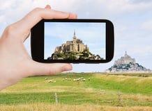 Foto de la abadía de santo-Miguel del mont, Normandía Imagen de archivo libre de regalías