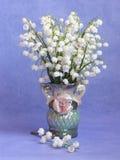 Foto de la acción de la primavera de la tarjeta de la flor de Pascua del día de madres Imagen de archivo