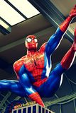 Foto de la aventura asombrosa del hombre araña Foto de archivo