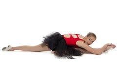 Foto de la ballet-muchacha que estira joven Imágenes de archivo libres de regalías
