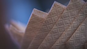 Foto de la boca del trapo de la servilleta del tejido de Brown fotos de archivo libres de regalías