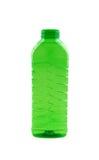 Foto de la botella plástica verde Fotos de archivo