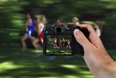 Foto de la cámara de varios corredores de las mujeres Fotografía de archivo