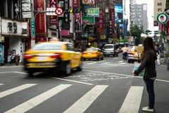 Foto de la calle de Taipei fotos de archivo