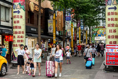 Foto de la calle de Taipei imagen de archivo
