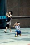 Foto de la calle, momento divertido Imagen de archivo libre de regalías