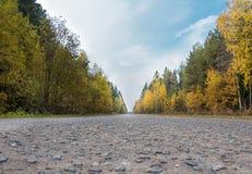 Foto de la carretera en Rusia fotografía de archivo libre de regalías