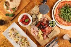 Foto de la cena italiana fotografía de archivo