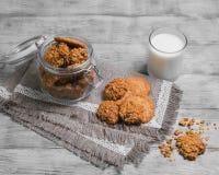 Foto de la comida de las galletas de la avena fotos de archivo