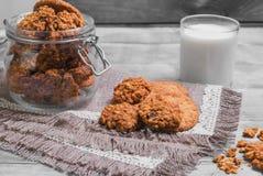 Foto de la comida de las galletas de la avena imagenes de archivo