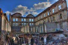 Foto de la fábrica de la materia textil de la demolición Fotografía de archivo libre de regalías