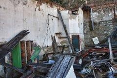 Foto de la fábrica de la materia textil de la demolición Foto de archivo libre de regalías