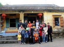 Foto de la familia en Año Nuevo Fotografía de archivo libre de regalías