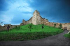 Foto de la fortaleza hermosa de Rupea en Rumania Fotos de archivo