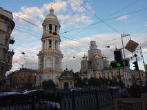 Foto de la iglesia del sankt-peterburg imagen de archivo