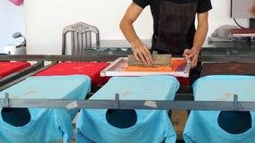 Foto de la impresión de proceso a la camiseta Foto de archivo libre de regalías