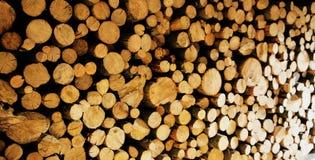 Foto de la leña del Woodpile Imágenes de archivo libres de regalías