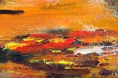 Foto de la macro de la pintura al óleo Imagenes de archivo