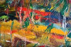 Foto de la macro de la pintura al óleo Imagen de archivo libre de regalías