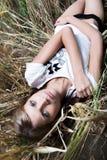 Foto de la manera de la mujer hermosa joven Imagenes de archivo