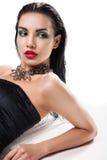 Foto de la moda de la mujer magnífica joven fotos de archivo