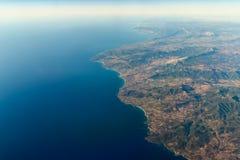 Foto de la mucha altitud de la tierra del planeta Imagenes de archivo