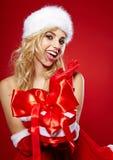 Foto de la muchacha de la Navidad de la manera Fotos de archivo libres de regalías