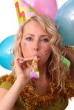Foto de la muchacha hermosa durante el carnaval Imagenes de archivo