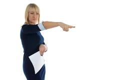 Foto de la mujer de negocios del descontento Fotos de archivo
