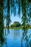 Foto de la naturaleza alrededor del lago azul hermoso Imágenes de archivo libres de regalías