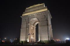 Foto de la noche de la puerta de la India Fotos de archivo