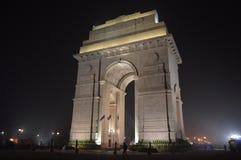 Foto de la noche de la puerta de la India Fotografía de archivo
