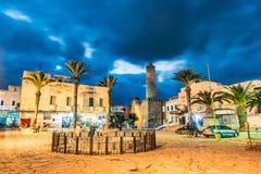 Foto de la noche del castillo del ribat en Sousse Imágenes de archivo libres de regalías