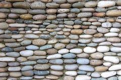 Foto de la pared pavimentada exactamente con las piedras fotografía de archivo