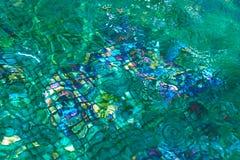 Foto de la parte inferior de la fuente con el mosaico Foto de archivo