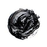 Foto de la pintura de aceite negra colorida del movimiento del cepillo imágenes de archivo libres de regalías