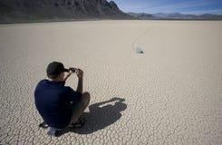 Foto de la pista de raza de Death Valley Foto de archivo