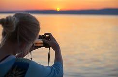 Foto de la puesta del sol Imagen de archivo libre de regalías
