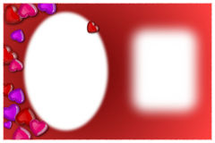 Foto de la tarjeta del día de San Valentín y un mensaje Fotos de archivo