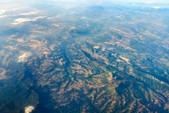Foto de la tierra a partir del 10 los 000m sobre la tierra Fotografía de archivo