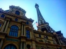 Foto de la torre Eiffel miniatura en Las Vegas Fotos de archivo libres de regalías