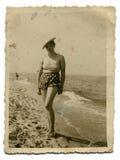 Foto de la vendimia de la mujer Fotos de archivo