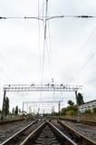 Foto de la vertical del ferrocarril Fotos de archivo libres de regalías