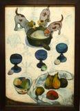 Foto de la vida original de la pintura 'aún con tres perritos' por Paul Gauguin Imagen de archivo libre de regalías